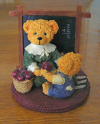"""COLLECTABLE BEARS """"LOVABLE TEDDIES"""" BY AVON """"1st DAY OF SCHOOL/1er JOUR D'ECOLE"""""""