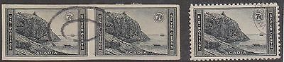 (T13-6) 1935 USA 3mix 7c national parks &imperfed pair