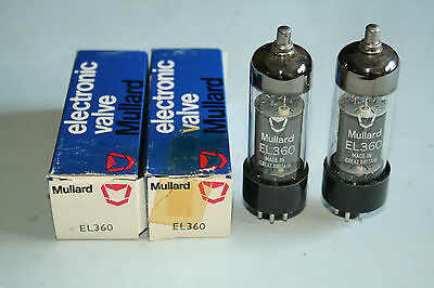 MATCHING PAIR MULLARD EL360 TUBES  *** NEW IN THE BOXES ***