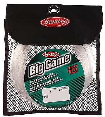Berkley Trilene Big Game Clear Mono Leader 100m 100lb-400lb in Pouch