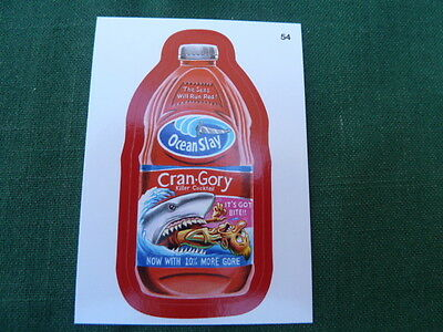 """Wacky Packages 11 (ANS11) Cran-Gory - Red Parallel Sticker # 54 """"A Back"""""""