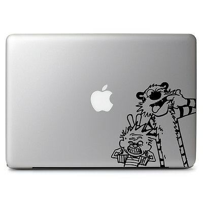 Cute Funny Calvin & Hobbes for Macbook Air Pro 11 13 15 Vinyl Decal Sticker