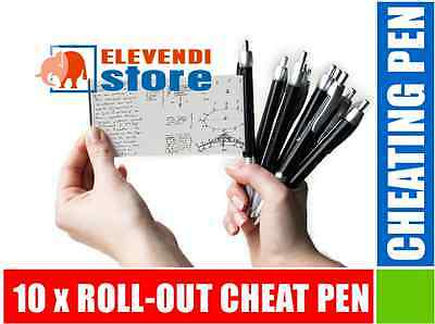 10 x ROLL-OUT CHEAT PEN FOR EXAMS, NOTES ! CHEATING PEN // ELEVENDI STORE //
