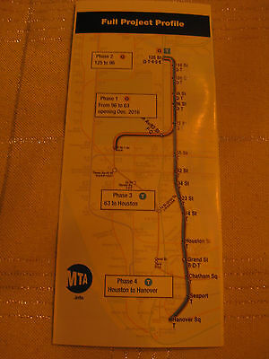 New York City second avenue subway Building Phases brochure maps 2013