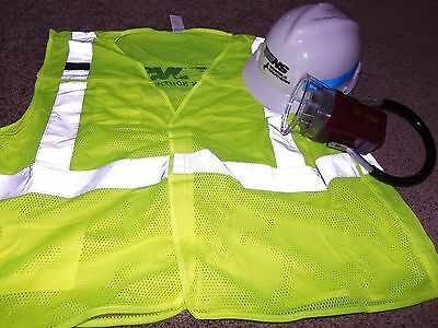 NORFOLK SOUTHERN RAILROAD SAFETY VEST, FLASHLIGHT AND HARDHAT