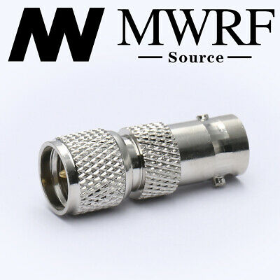 Mini UHF Male to BNC Female RF Connector Adapter; US Stock; Fast Shipping
