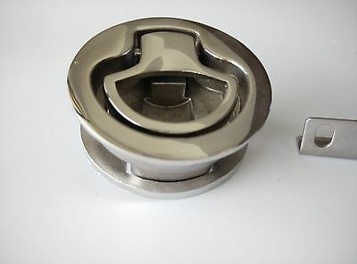 New-Stainless Steel Boat Flush Pull Non 2 3/8 Inch Locking Latch