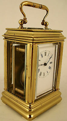 Antique Miniature French Carriage Clock. Circa 1900