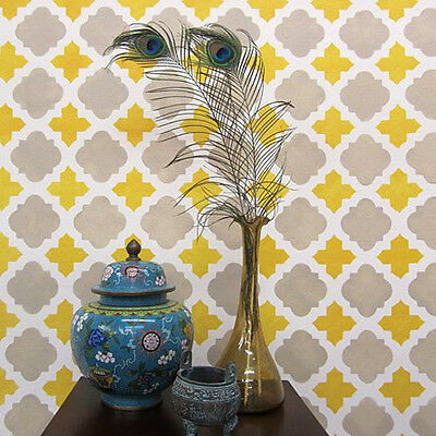 Moroccan Tiles Allover Stencil - Sturdy and Reusable Wall Stencils for DIY Decor