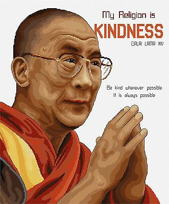 Dalai Lama - Counted Cross Stitch Chart by Fiona Jude of Country Threads