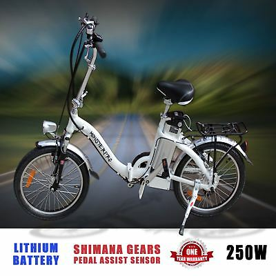 Foldable Folding Electric E-Bike Scooter Ebike Pedal Assist Shimano Gear Bicycle