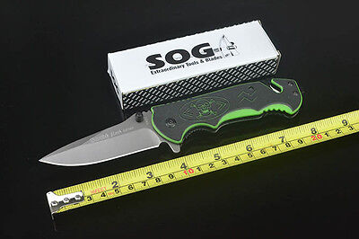 Tactical SOG Knife Assisted Opening Folding Saber Outdoor Hunting Camping kUH100