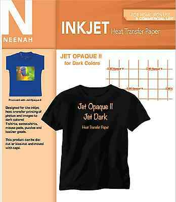 Neenah Inkjet Opaque II Heat Transfer Paper for Dark Colors 11x17 (5 Sheets)