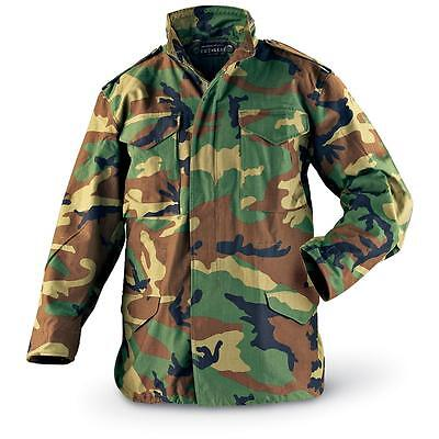 Camo US Army Military Woodland Camouflage M-65 Field Jacket XL Long Size