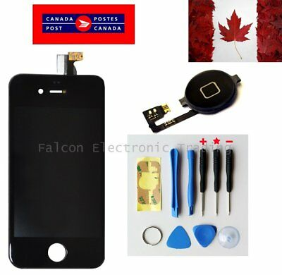 Replacement LCD Touch Screen Digitizer Glass for iPhone 4 Black + button