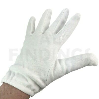 Large High Quality 100% Cotton Handling Gloves Jewellery Watches Cleaning Tool