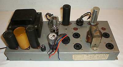 Conn 2-Channel Quad 7868 Tube Mono Power Amplifier Guitar MIC Stereo Amp