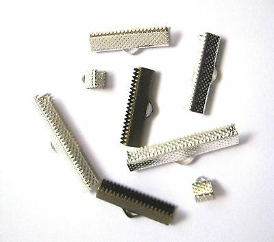 RIBBON End Clasps - Jewellery Making - Choose Size/Colour - Lead, Nickel FREE