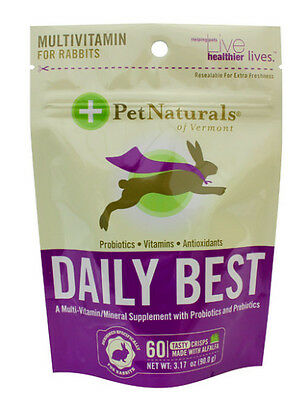 Pet Naturals of Vermont Rabbit Daily Best Supplement NEW Sealed Bags