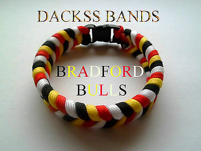 Bradford Bulls Rugby League Team 550 Paracord WristBand Bracelet Odsal Stadium
