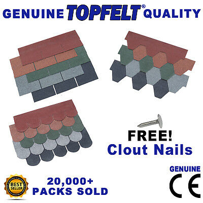 Asphalt Roof Felt Tiles Shingles Sheds Log Cabins Summerhouses Garages