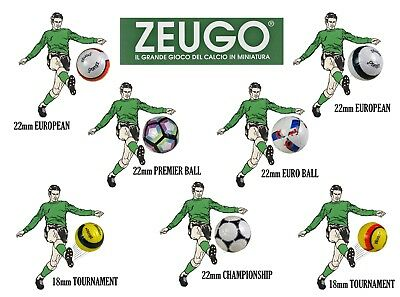 ZEUGO 18mm & 22mm TABLE FOOTBALL & TABLE SOCCER BALLS. USED FOR SUBBUTEO.