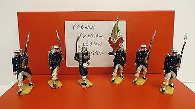 Unknown Set Of 6 French Foreign Legion Flag Bearers 54Mm Boxed (Bs477)