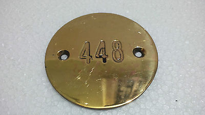Vintage Maritime Marine Ship Plaque & Signs Brass Small Door Number Plaque
