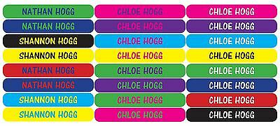 48pk Personalised PENCIL Labels Vinyl - Any colour, any name