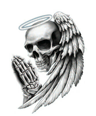 Angel Death Skull Motorcycle Helmet Vehicle Car Truck Window Decal Sticker