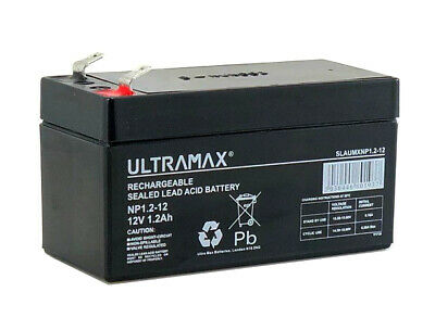 NP1.2-12 ULTRA MAX 12v 1.2Ah sealed lead acid battery for alarms, toy cars