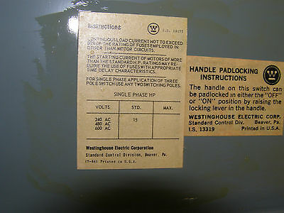 WESTINGHOUSE FDPS FDPS324 200 AMP 240V FUSIBLE PANEL PANELBOARD SWITCH