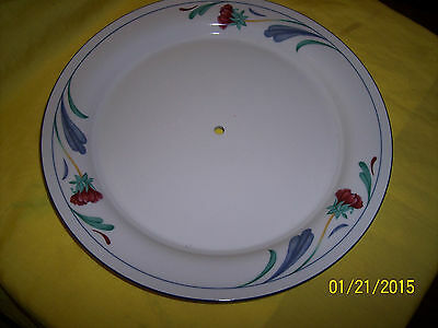 *1 Lenox Poppies On Blue Chinastone Serving Tray PLATE  New NO HARDWARE  10 3/4""