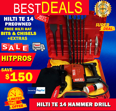 Hilti Te 14 Preowned, Durable, Free Bits, Chisels, Hilti Hat, Extras, Fast Ship