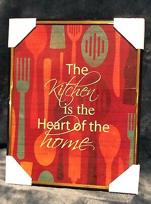"""New """"the Kitchen is the Heart of the home"""" Kitchen Wall Art Picture"""