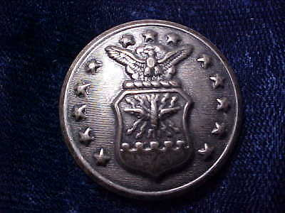US AIR FORCE SILVER 1-1/8 COAT BUTTON MARKED WATERBURY BUTTON CO