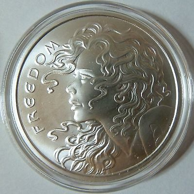 2015 Silver Shield Collection Freedom Girl 1oz .999 Silver Bullion Round