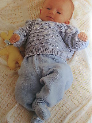 baby knitting pattern jumper and leggings 4 ply 3 months to 2 years