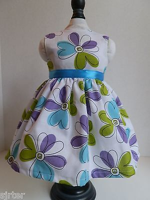 "Doll Clothes Dress Fits 18"" American Girl - Flower Power Free Shipping"