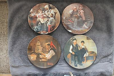 Rockwell Heritage Series First 11 plates 1977-1987 no COA's, no orig. boxes