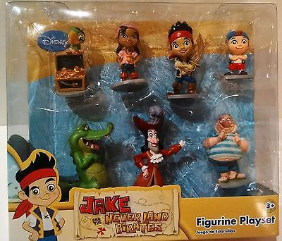 NEW Disney Jake and the Never land Pirates Figures 7 Piece Set in Box