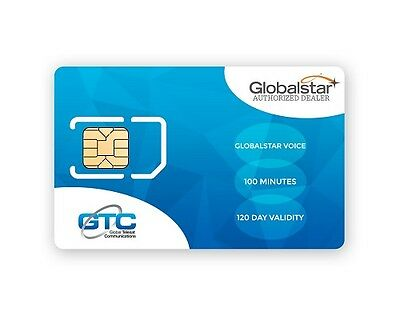 Globalstar Satellite Phone 100 Prepaid Units with 120 Days Validity Top-Up