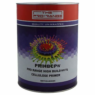 Pro-Range 1K Cellulose High Build White Primer 5L Car Industrial Celly