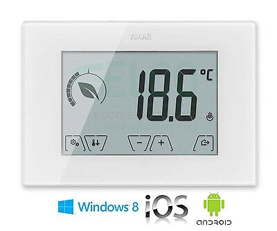 Termostato Digitale Touch Screen GSM Vimar 02906 App iOS - Android - Windows