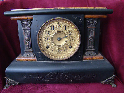 Antique Seth Thomas Adamantine Mantle Clock Dated 1880, No. 102 -51503