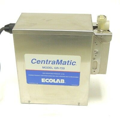 Used Ecolab CentraMatic Pump GR-720  12 PSI Max Press, 120 V/60Hz, 1.17 Amps