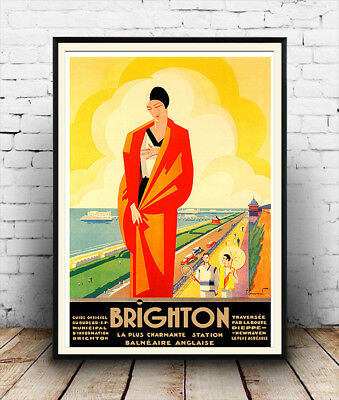 Brighton, Vintage Travel advertising poster reproduction.