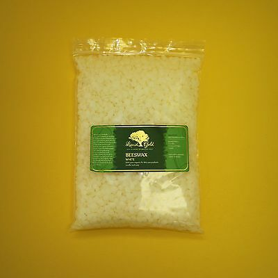 100% Pure Organic Filtered White Beeswax Raw Pastilles Beads Pellets Beards
