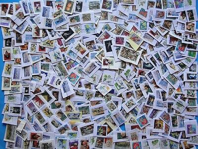 US Used Stamp Lot On Paper, 400+ Stamps, Most are Forever Commemoratives
