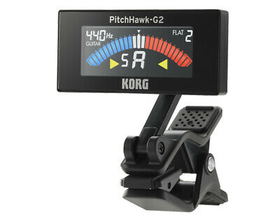 Korg Pitchhawk-G AW3G2 Colour Guitar Tuner Clip on Guitar Tuner - 12 month wa...